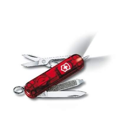 Couteau suisse SIGNATURE LITE rouge translucide