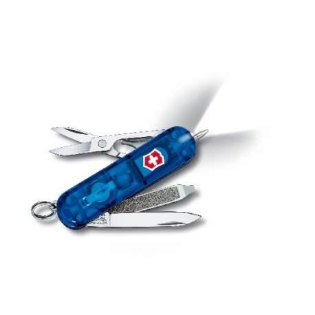 Couteau suisse SIGNATURE LITE bleu translucide