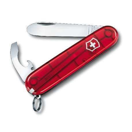 My first Victorinox rouge translucide - couteau suisse enfant