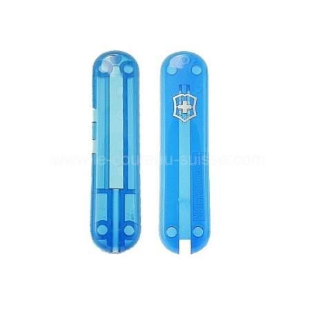 Plaquettes bleues translucides Victorinox Signature 58mm