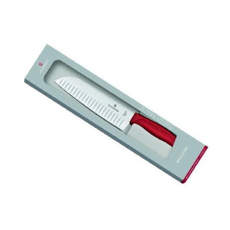 Couteau Santoku Swiss Classic manche rouge