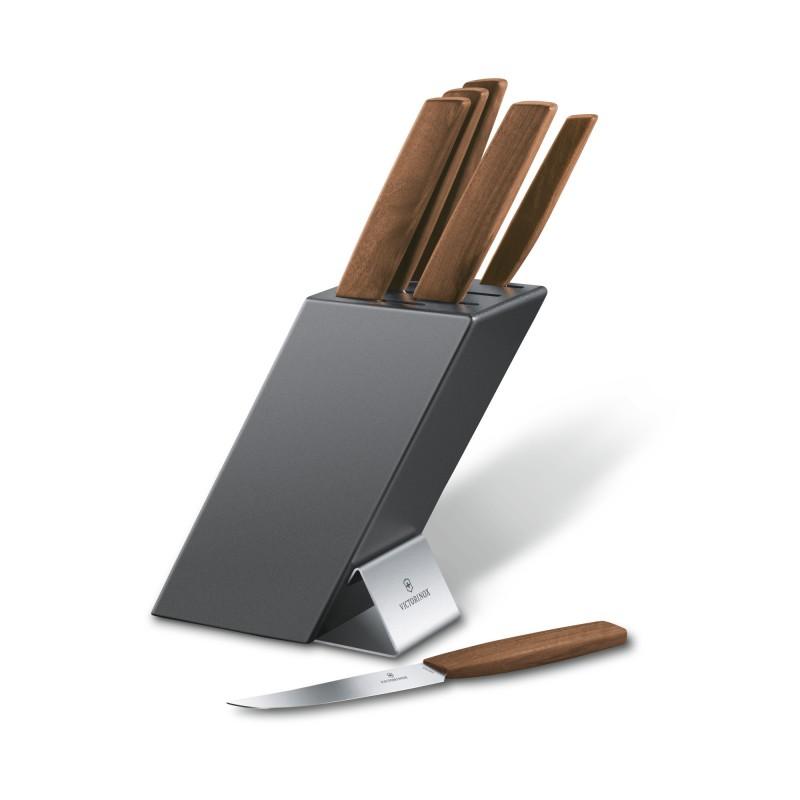 bloc de 6 couteaux de cuisine victorinox swiss modern. Black Bedroom Furniture Sets. Home Design Ideas