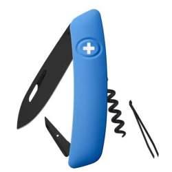 Couteau suisse Swiza D01 ALLBLACK bleu