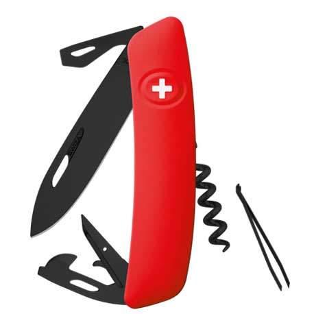 Couteau suisse Swiza D03 ALLBLACK rouge