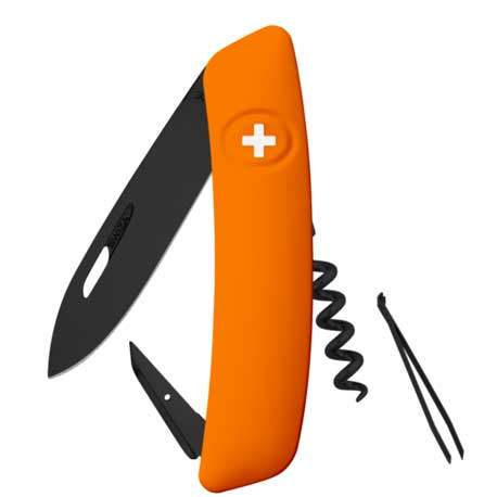 Couteau suisse Swiza D03 ALLBLACK orange
