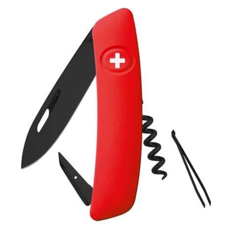Couteau suisse Swiza D01 ALLBLACK rouge