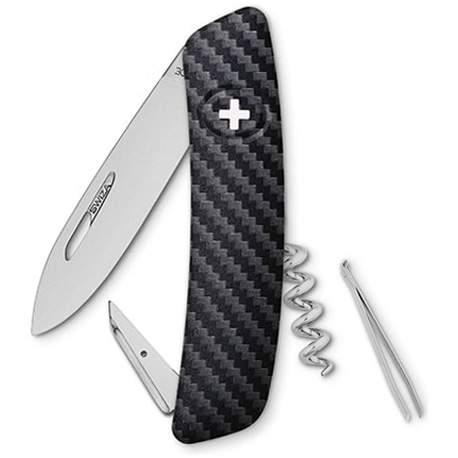Couteau suisse Swiza D01 impression carbone