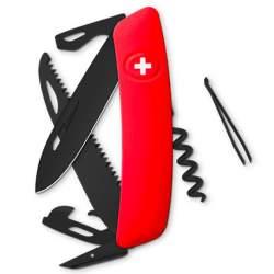 Couteau suisse Swiza D05 ALLBLACK rouge