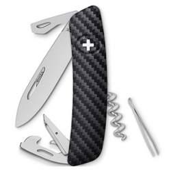 Couteau suisse Swiza D03 impression carbone