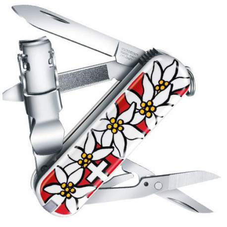 Couteau suisse Victorinox NailClip 580 edelweiss