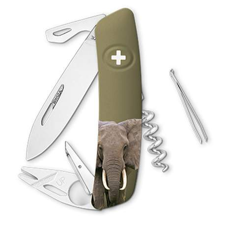 Couteau suisse Swiza Tick Tool TT03 olive Elephant