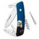 Couteau suisse Swiza Tick Tool TT03 bleu Aigle
