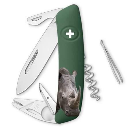 Couteau suisse Swiza Tick Tool TT03 vert sauvage Rhinocéros