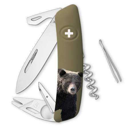 Couteau suisse Swiza Tick Tool TT03 olive Ours