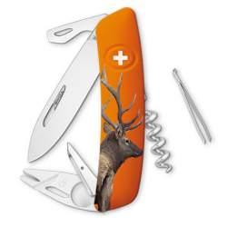 Couteau suisse Swiza Tick Tool TT03 orange Cerf