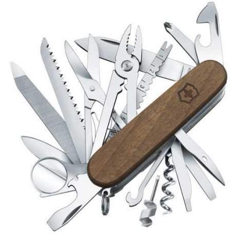 Couteau suisse Victorinox Swisschamp Wood bois noyer