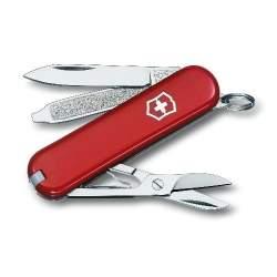 Couteau suisse CLASSIC SD rouge gravé