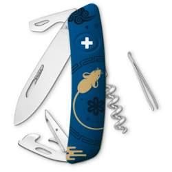Couteau suisse Swiza D03 bleu Nouvel An Chinois 2020