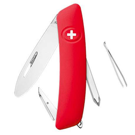 Couteau suisse Swiza Junior J02 rouge avec anneau