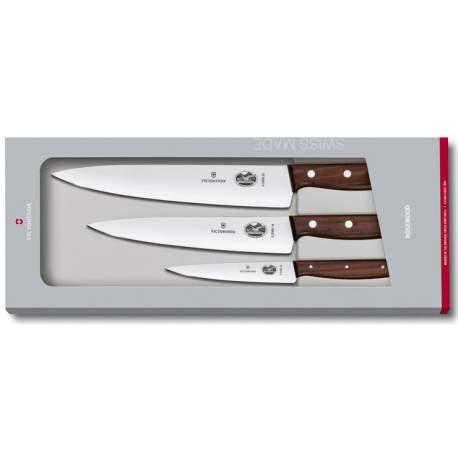 Coffret 3 couteaux érable palissandre Victorinox