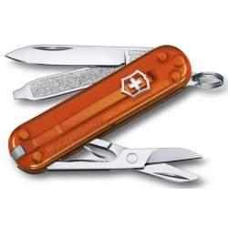 Couteau suisse CLASSIC SD translucide Fire Opal