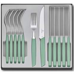 Ménagère 12 pièces Victorinox Swiss Modern steak vert pastel