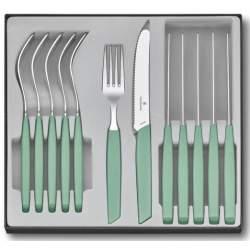 Ménagère 12 pièces Victorinox Swiss Modern table vert pastel