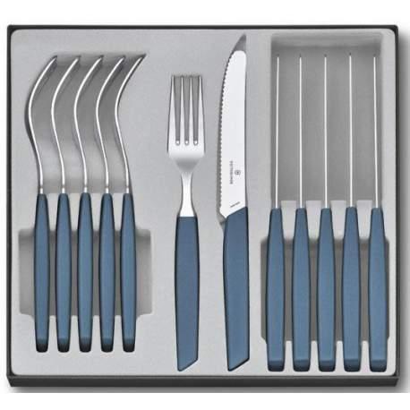 Ménagère 12 pièces Victorinox Swiss Modern table bleuet