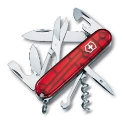 Couteau suisse CLIMBER rouge translucide
