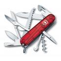 Couteau suisse HUNTSMAN rouge translucide