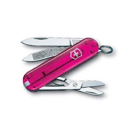 Couteau suisse CLASSIC rose translucide