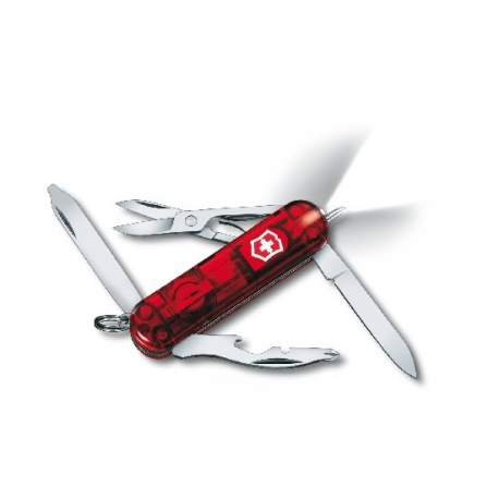 Couteau suisse MANAGER rouge translucide