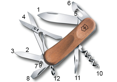 Schéma Victorinox Evolution Wood 14
