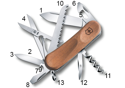 Schéma Victorinox Evolution Wood 17