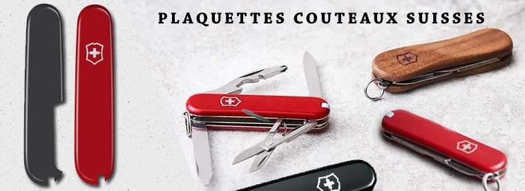 Plaquettes de rechange pour manches de couteaux suisses